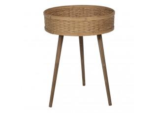 Odkládací stolek s bambusovou výplní - 46*62 cm