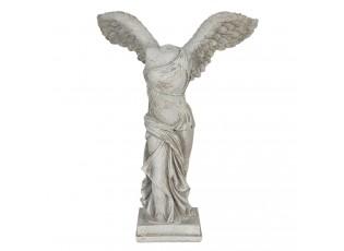 Bílá antická socha torza těla s křídly - 17*10*24 cm