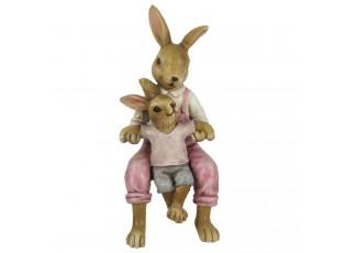 Velikonoční dekorace králíků - 6*6*15 cm