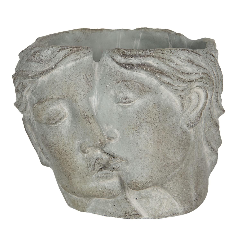 Levně Clayre & Eef Květináč s designem propojených tváří Homme - 24*22*20 cm