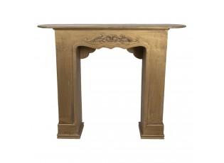 Zlatá krbová římsa Dominique - 125*28*101 cm