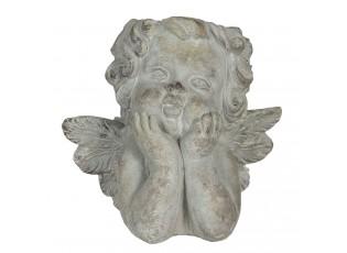 Kamenný květináč v designu anděla Alies - 20*16*20 cm