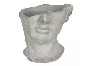 Kamenný květináč v designu rozbité antické busty Homme - 20*18*19 cm