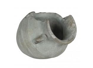Kamenný květináč v designu rozbitého džbánu Homme - 23*18*16 cm