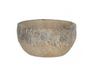 Velký kamenný obal na květináč s popraskaným vzhledem Craquer – Ø 23*11 cm