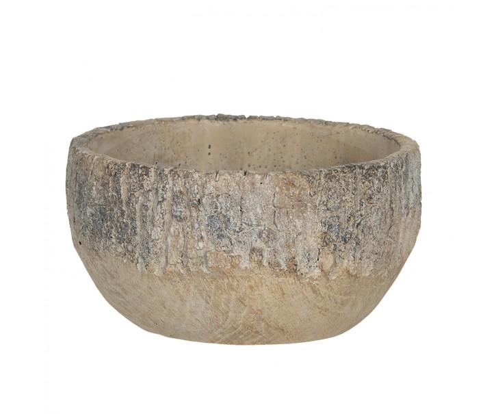 Nízký kamenný obal na květináč s popraskaným vzhledem Craquer – Ø 15*8 cm