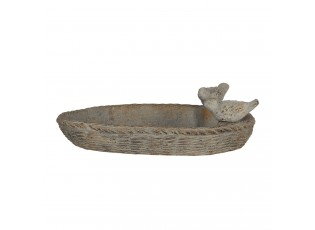 Ptačí krmítko/pítko ve tvaru košíku s dekorací ptáčků - 35*25*10 cm