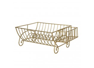 Kovový zlatý stojan na talíře - 42*29*17 cm