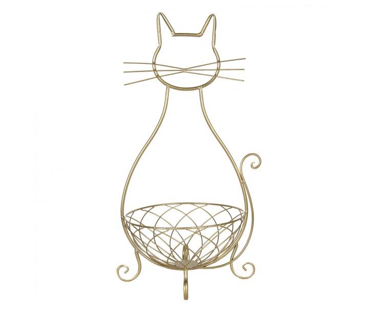 Kovový koš kočka - 31*25*55 cm