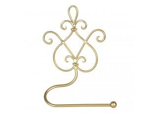 Zlatý kovový zdobený držák toaletního papíru - 17*7*22 cm