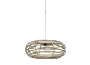 Šedé ratanové závěsné světlo Alana - Ø 60*30cm