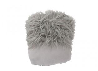 Šedý polštář na nohy Faux grey - 45*40 cm