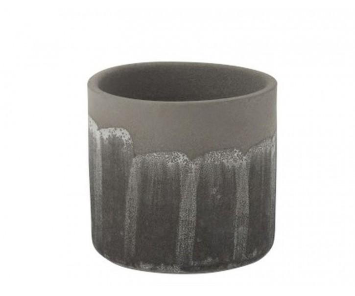 Šedý granitový obal na květináč Transition L - Ø 17*16 cm