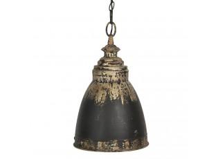 Černo-zlaté kovové závěsné světlo Enyo – Ø 28*45 cm E14/max 1*25W