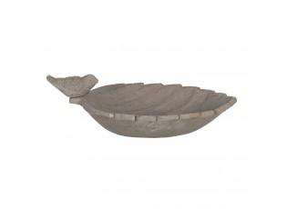 Betonové krmítko/pítko s dekorací ptáčka – 31*21*11 cm