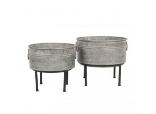 Vintage stojánek na rostliny (2ks) - 40*35 / 35*31 cm