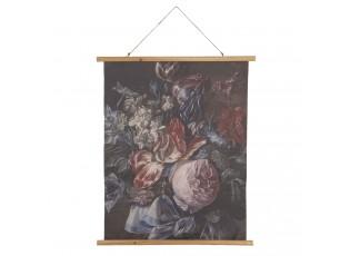Nástěnný plakát s malbou zátiší květin- 80*2*100 cm