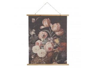 Nástěnný plakát s malbou květin, ovoce a zvěře - 80*2*100 cm
