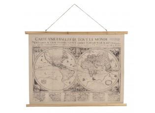 Nástěnná mapa světa obě polokoule s latinským popisem - 100*2*75 cm