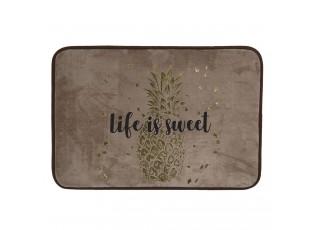 Champagne koupelnová předložka se zlatým potiskem Life is sweet - 60*40*1 cm