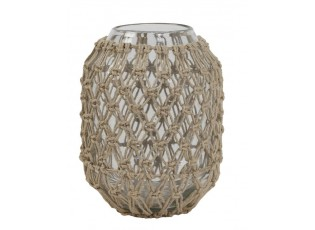 Skleněná váza s jutovým opletením Narona - Ø16*21 cm