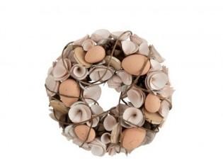 Velikonoční věnec s vajíčky - Ø 24*8 cm