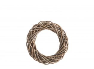 Šedo-přírodní ratanový věnec Rouny - Ø 35*6cm