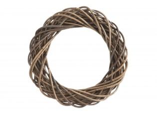Šedo-přírodní ratanový věnec Rouny - Ø 50*10cm