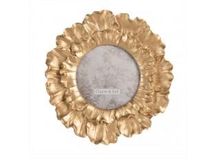 Kulatý zlatý fotorámeček Iris – Ø 18*2 cm / 10*10 cm