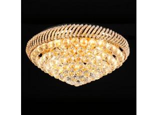 Křišťálové stropní světlo Becky - Ø 60*25 cm E14/max 12*40W
