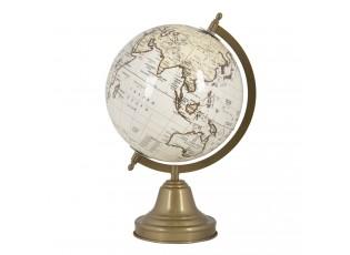 Dekorativní globus na bronzovém podstavci - 21*21*34 cm