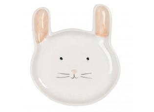 Keramický talíř v designu zajíčka - 15*17*2 cm