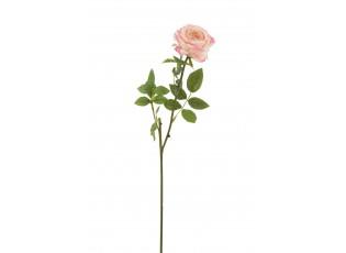 Dekorace umělá růžová růže Mattie - 17*10*59 cm