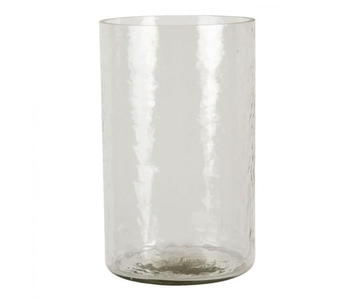 Transparentní skleněný svícen na svíčku - 15*25 cm
