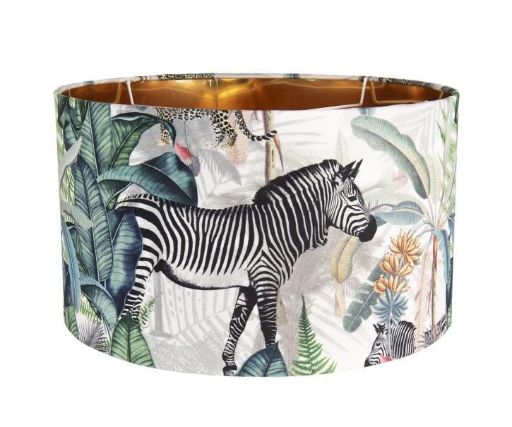 Textilní stínidlo s motivem divokých zvířat Safari – Ø 45*28 cm / E27
