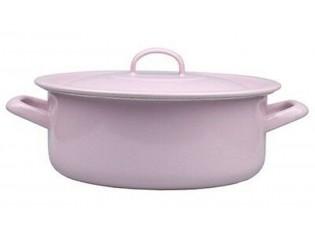 Růžový smaltovaný kastrol s poklicí Pink - Ø24cm - 4,5L