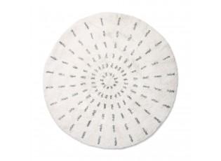 Kulatá bavlněná koupelnová předložka Swirl - Ø 120cm