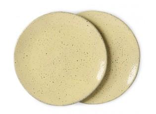 2ks žlutý dezertní talíř Gradient Ceramics - Ø 22,5*1,5cm