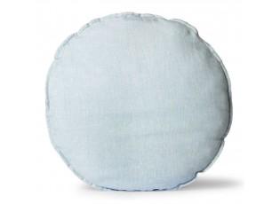 Modrý lněný kulatý podsedák Ice Blue - Ø 60 *5cm