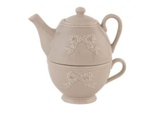 Konvice na čaj se šálkem Elegant Ornament - 17 * 12 * 16 cm