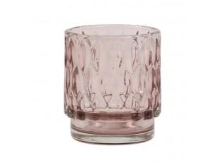 Staro - růžový skleněný svícen Grace - Ø 7*8 cm