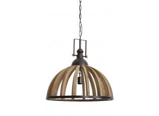 Závěsné dřevěné světlo Djem - Ø 60*60 cm