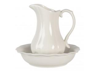 Porcelámový set mísy a džbánu  - Ø 24*5/20*13*21 cm