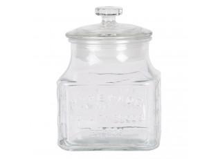 Skleněná dóza s víkem Homemade - 12*12*16 cm