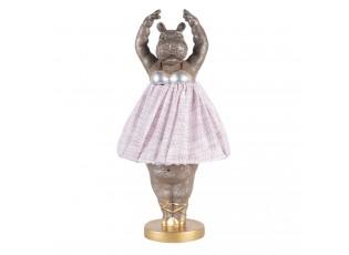 Stolní lampa ve tvaru tančící hrošice - Ø 20*41 cm / E27