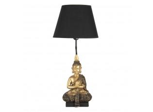 Zlato černá stolní lampa s Buddhou - Ø 28*60 cm / E27