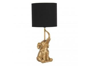 Zlato černá stolní lampa Slůně - Ø 20*46 cm / E27