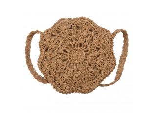Přírodní drhaná kabelka přes rameno - Ø 20 cm