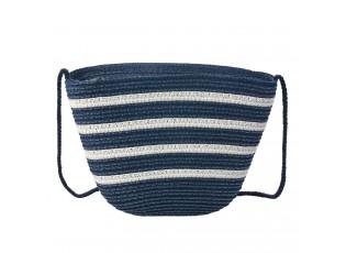 Bílo modrá plážová mini kabelka přes rameno - 22*15 cm