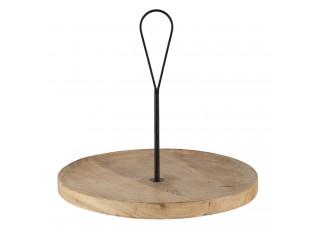 Dřevěný servírovací talíř - Ø 40*37 cm